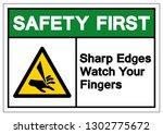 safety first sharp edges watch... | Shutterstock .eps vector #1302775672