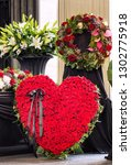 funeral  beautifully decorated... | Shutterstock . vector #1302775918