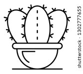 botany cactus pot icon. outline ... | Shutterstock .eps vector #1302777655