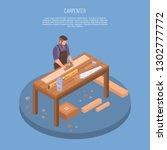 carpenter concept background....   Shutterstock .eps vector #1302777772