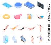 pool equipment icons set....   Shutterstock .eps vector #1302778522