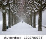 winter in aix les bains france. | Shutterstock . vector #1302780175