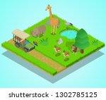 bird sanctuary isometric...   Shutterstock .eps vector #1302785125