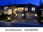 house at night | Shutterstock . vector #13028098
