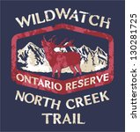 wild watching trail   artwork... | Shutterstock .eps vector #130281725