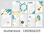 09 slides abstract unique... | Shutterstock .eps vector #1302826225