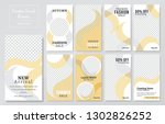 09 slides abstract unique... | Shutterstock .eps vector #1302826252