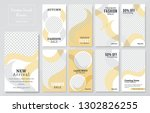 09 slides abstract unique... | Shutterstock .eps vector #1302826255