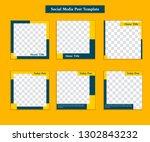 social media instagram square ... | Shutterstock .eps vector #1302843232