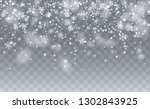 realistic snow background.... | Shutterstock .eps vector #1302843925