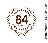 84 years design template. 84th... | Shutterstock .eps vector #1302854605