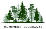 evergreen forest pine  tree... | Shutterstock .eps vector #1302862258