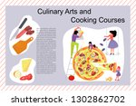 culinary art and cooking... | Shutterstock .eps vector #1302862702