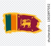 flag sri lanka from brush...
