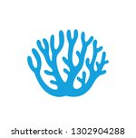 coral logo. isolated coral on... | Shutterstock .eps vector #1302904288