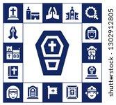 catholic icon set. 17 filled... | Shutterstock .eps vector #1302912805