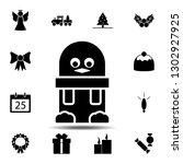 penguin icon. simple glyph...