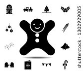 man cookie icon. simple glyph...