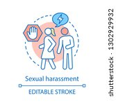 sexual harassment concept icon. ... | Shutterstock .eps vector #1302929932