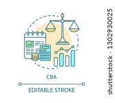 cba concept icon. bookkeeping... | Shutterstock .eps vector #1302930025