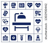 pulse icon set. 17 filled... | Shutterstock .eps vector #1302930442