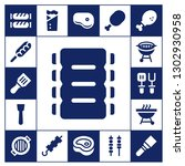 grilled icon set. 17 filled... | Shutterstock .eps vector #1302930958