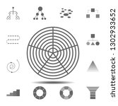 polar grid icon. simple glyph...