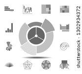 sunburst chart icon. simple...