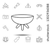 brazier icon. simple outline... | Shutterstock . vector #1302936088