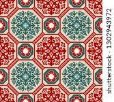 seamless traditional asian... | Shutterstock .eps vector #1302943972