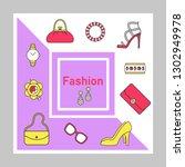 fashion social media posts... | Shutterstock .eps vector #1302949978