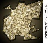 glowing golden geometric... | Shutterstock .eps vector #130295042