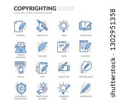 simple set of copyrighting... | Shutterstock .eps vector #1302951358