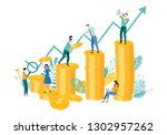 people work together in team to ...   Shutterstock .eps vector #1302957262