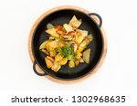 fried potato garnished with...   Shutterstock . vector #1302968635