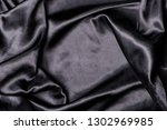 black smooth elegant satin... | Shutterstock . vector #1302969985