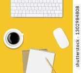 computer keyboard frame... | Shutterstock .eps vector #1302984808