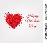 valentines day card  vector... | Shutterstock .eps vector #1302984835
