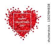 red heart isolated white... | Shutterstock .eps vector #1302984838