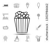 popcorn line icon. simple...