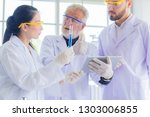 research teams in health... | Shutterstock . vector #1303006855