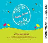 easter springtime background... | Shutterstock .eps vector #130302182