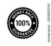 money back guarantee 100 ...   Shutterstock .eps vector #1303023742