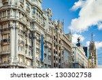 View Of Gran Via Of Madrid.