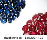 lot of red ruby and blue... | Shutterstock . vector #1303034422