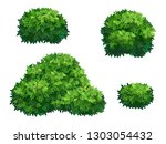 set of green bush and tree... | Shutterstock .eps vector #1303054432