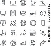 thin line icon set   credit... | Shutterstock .eps vector #1303056652