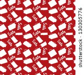 red sale seamless background...   Shutterstock .eps vector #130305776