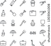 thin line icon set   suitcase... | Shutterstock .eps vector #1303061008