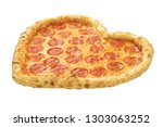 pizza heart shaped with... | Shutterstock . vector #1303063252